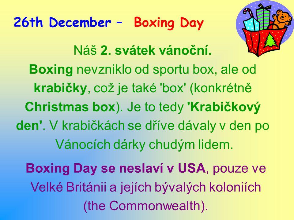 Náš 2. svátek vánoční.