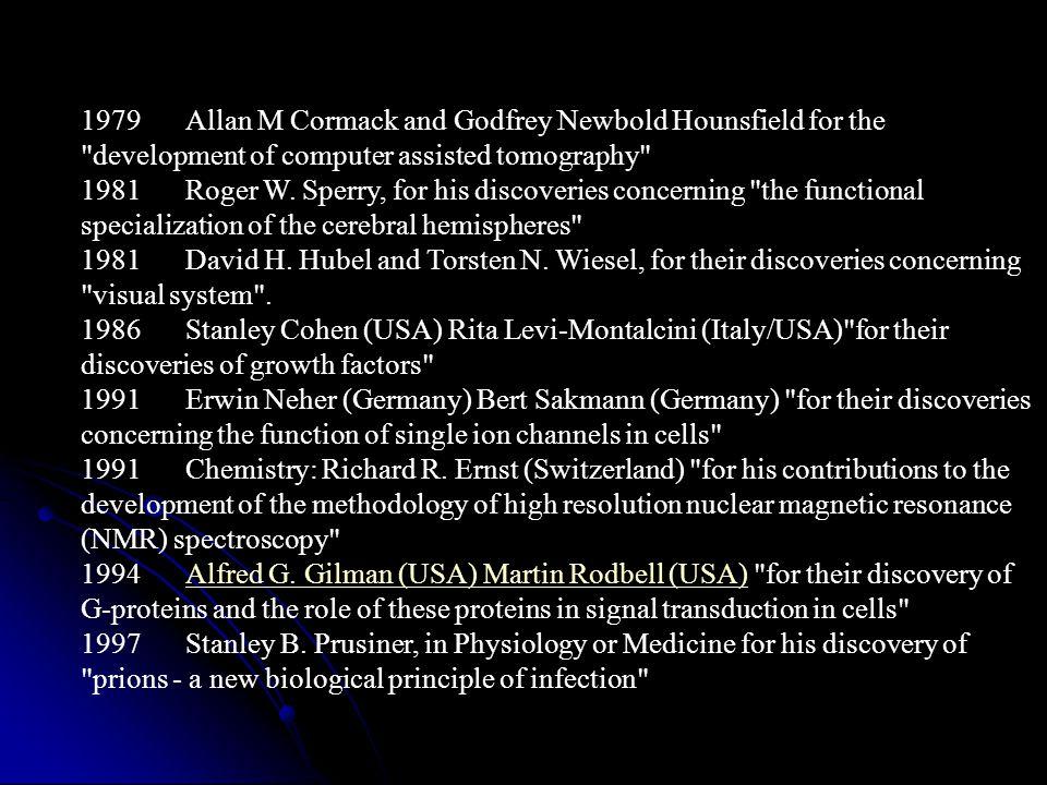 1997Chemistry: Paul D.Boyer (USA) and John E.