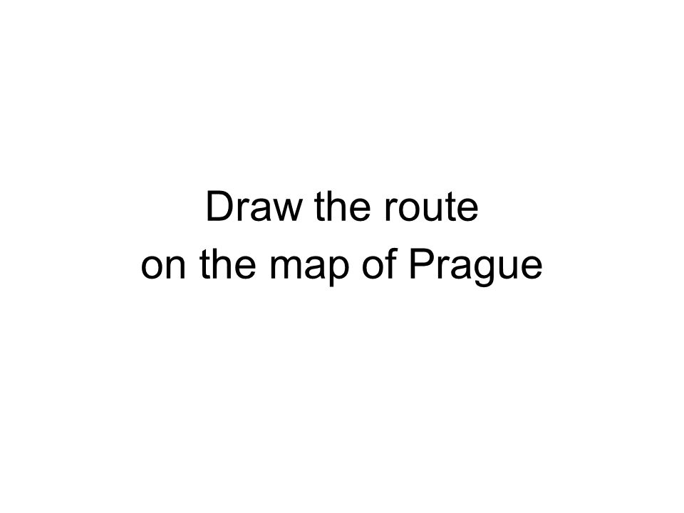 Draw the route on the map of Prague