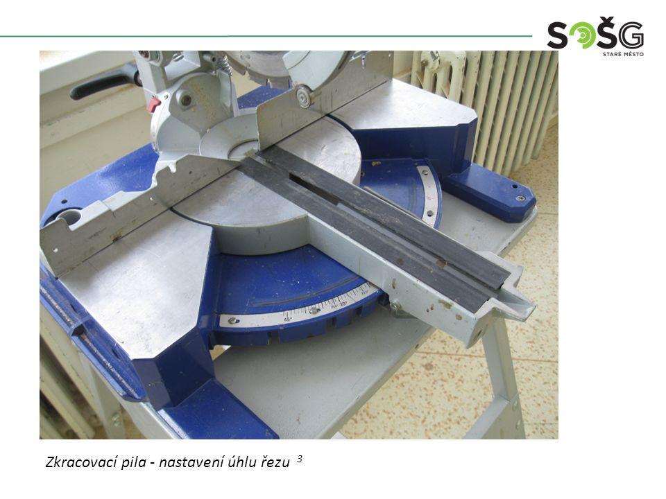 Vícekotoučová rozřezávací pila PWR 201 TOS Svitavy - detail Zkracovací pila - nastavení úhlu řezu 3