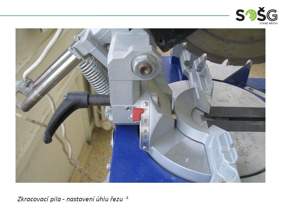 Vícekotoučová rozřezávací pila PWR 201 TOS Svitavy - detail Zkracovací pila - nastavení úhlu řezu 4