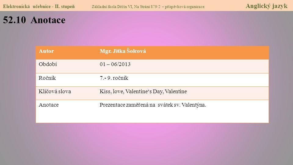 52.10 Anotace Elektronická učebnice - II.