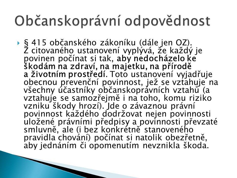 § 415 občanského zákoníku (dále jen OZ).