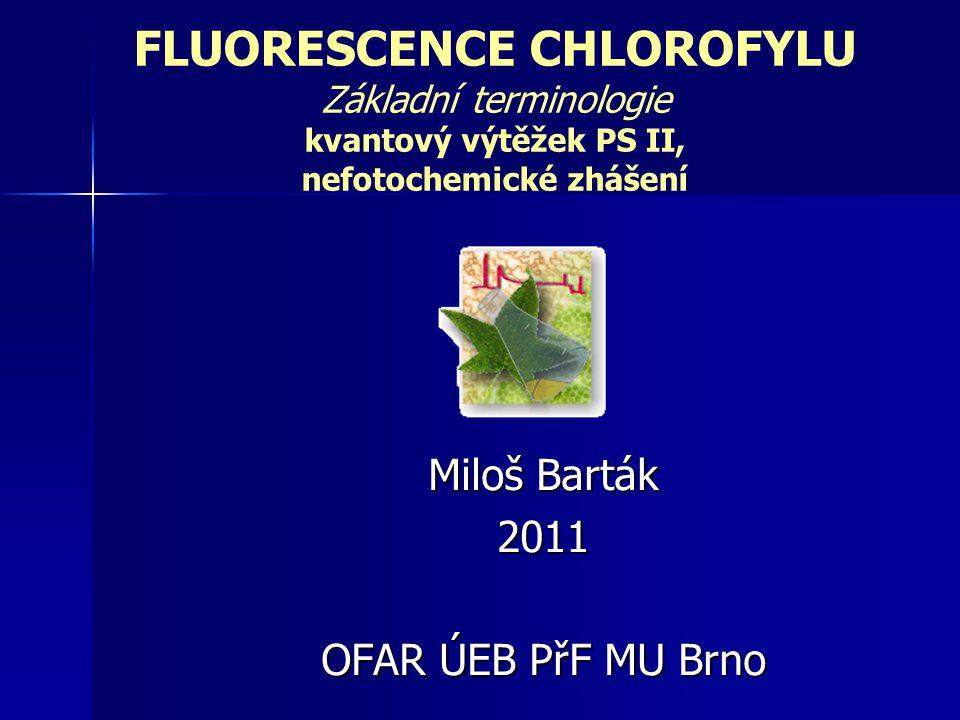 FLUORESCENCE CHLOROFYLU Kautsky, H., Hirsch, A.