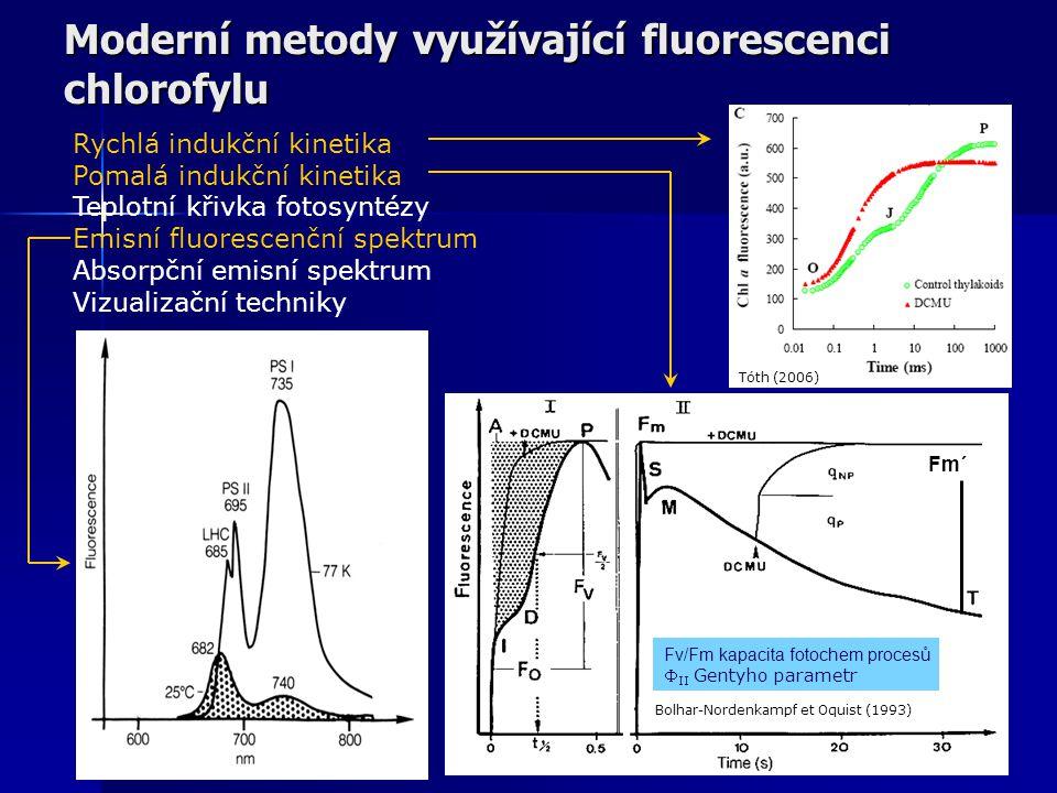 Pomalá indukční kinetika saturation puls actinic ligh Measuring l.