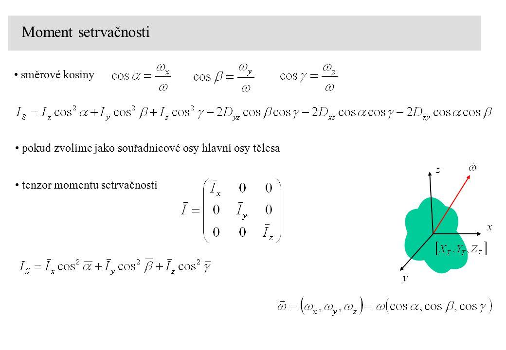 Moment setrvačnosti směrové kosiny tenzor momentu setrvačnosti pokud zvolíme jako souřadnicové osy hlavní osy tělesa