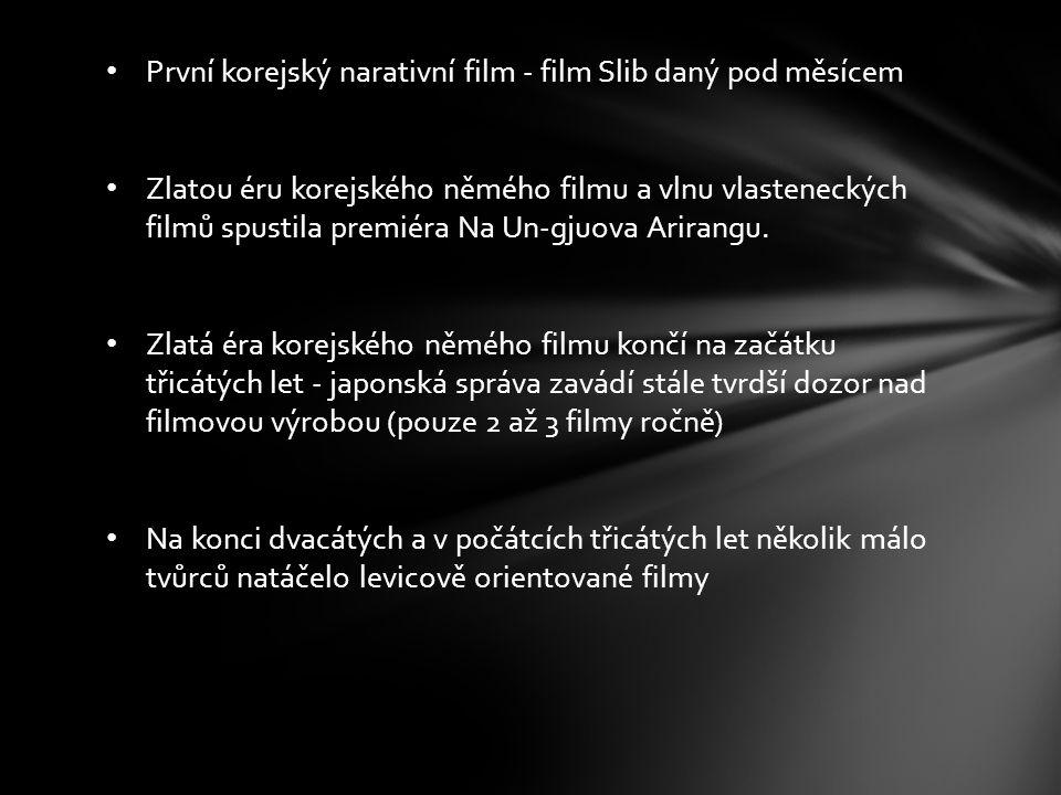 První korejský narativní film - film Slib daný pod měsícem Zlatou éru korejského němého filmu a vlnu vlasteneckých filmů spustila premiéra Na Un-gjuov