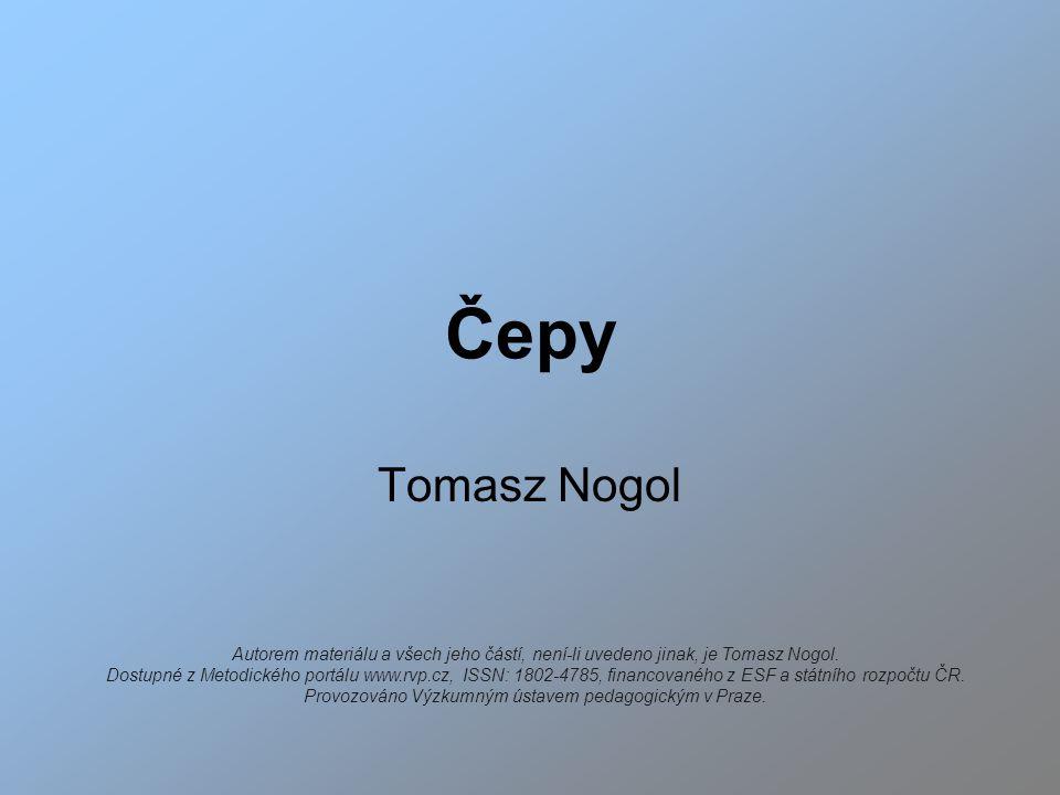 Čepy Tomasz Nogol Autorem materiálu a všech jeho částí, není-li uvedeno jinak, je Tomasz Nogol.