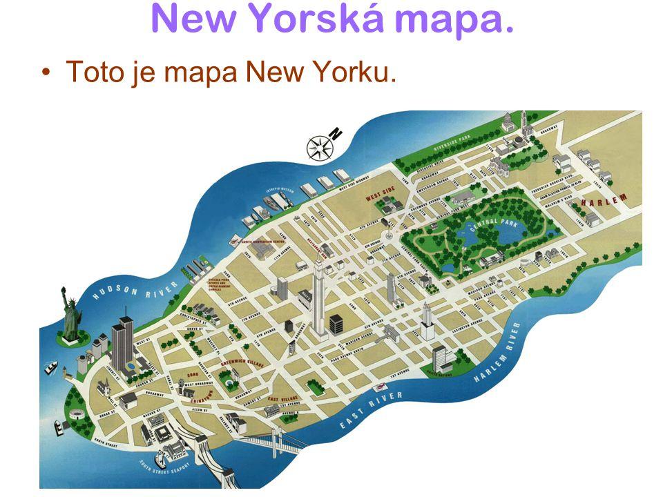 New Yorská mapa. Toto je mapa New Yorku.