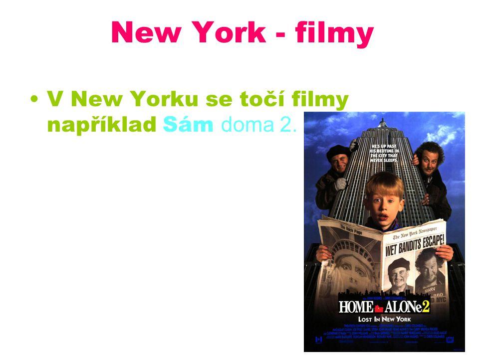 New York - filmy V New Yorku se točí filmy například Sám doma 2.