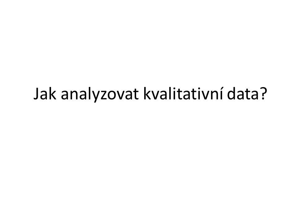 Jak analyzovat kvalitativní data?