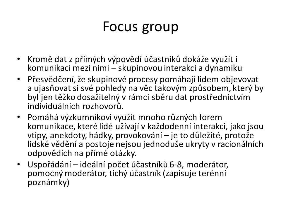 Kdy je vhodná focus group.