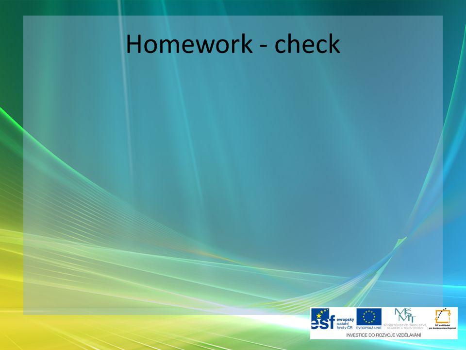 Homework - check