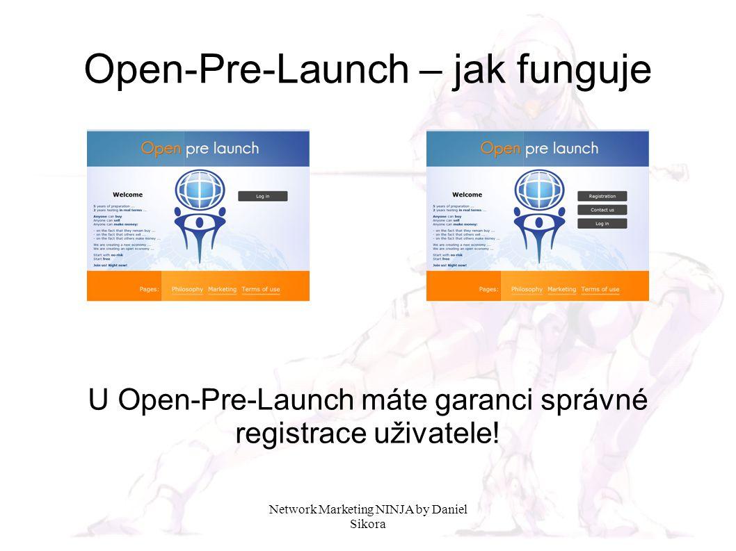 Network Marketing NINJA by Daniel Sikora Open-Pre-Launch – jak funguje Pokud nový uživatel zadá do prohlížeče adresu bez ID zprostředkovatele, systém mu neumožní registraci, tato stránka umožňuje pouze přihlášení již registrovaného uživatele!