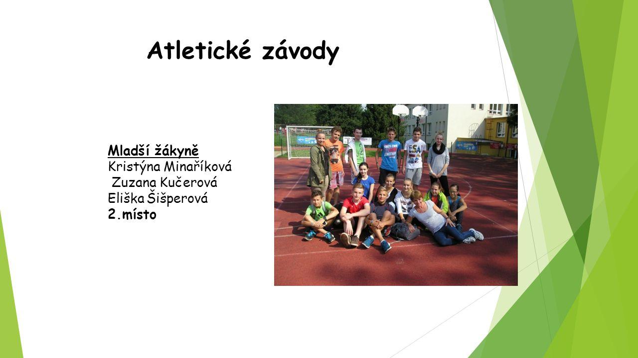Atletické závody Mladší žákyně Kristýna Minaříková Zuzana Kučerová Eliška Šišperová 2.místo