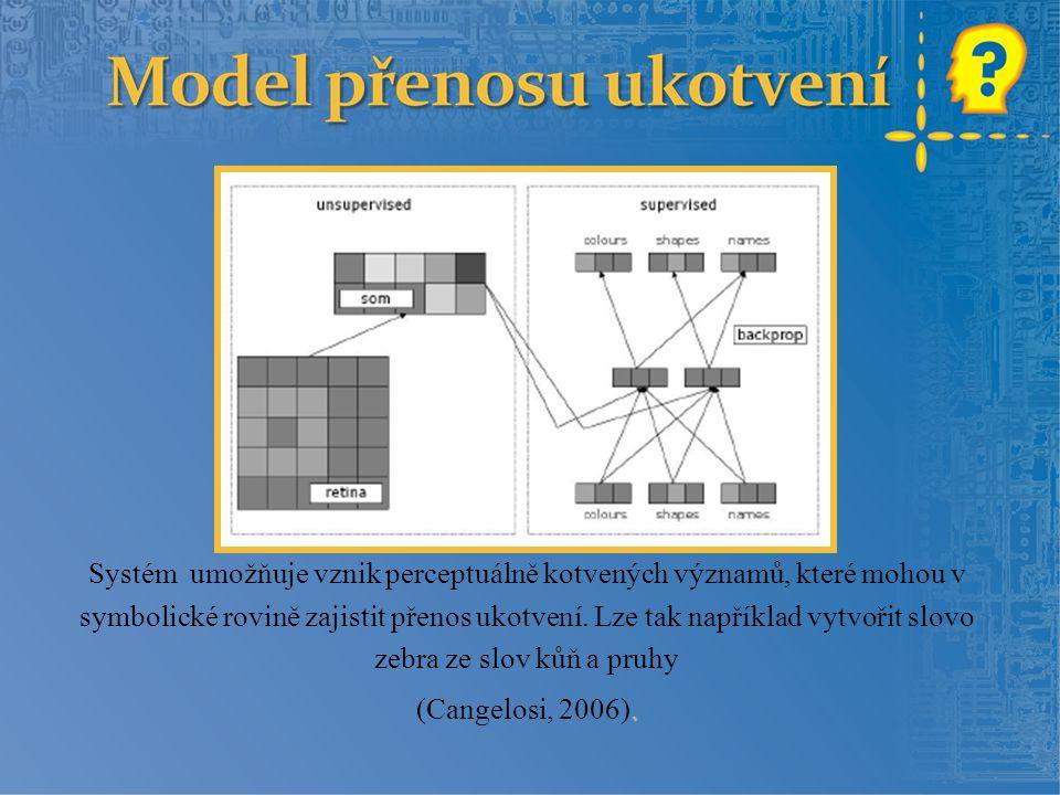 Systém umožňuje vznik perceptuálně kotvených významů, které mohou v symbolické rovině zajistit přenos ukotvení. Lze tak například vytvořit slovo zebra