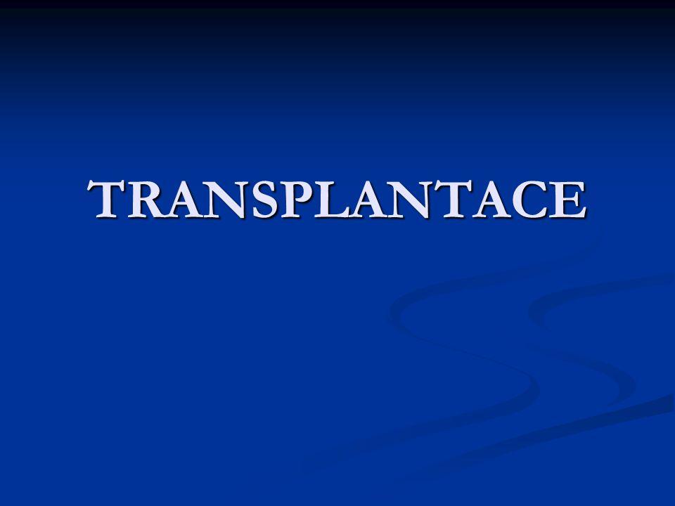 Periferní krev – kmenové buňky 0,01 – 0,001% Periferní krev – kmenové buňky 0,01 – 0,001% Dostatečné množství – 5x10 6 CD 34+/ kg váhy příjemce Dostatečné množství – 5x10 6 CD 34+/ kg váhy příjemce Autologní transplantace – po cytostatické léčbě + růstové faktory…tvorba nových kmenových buněk 60x vyšší Autologní transplantace – po cytostatické léčbě + růstové faktory…tvorba nových kmenových buněk 60x vyšší Alogenní transplantace – pouze růstové faktory Alogenní transplantace – pouze růstové faktory