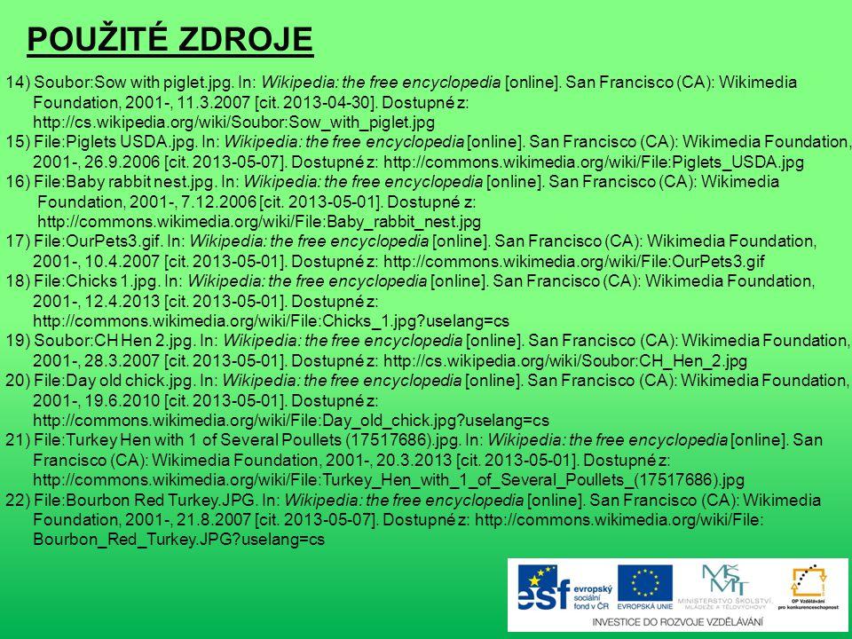 POUŽITÉ ZDROJE 1) www.office.microsoft.com 2) www.office.microsoft.com 3) www.office.microsoft.com 4) www.office.microsoft.com 5) File:Mare and foal (