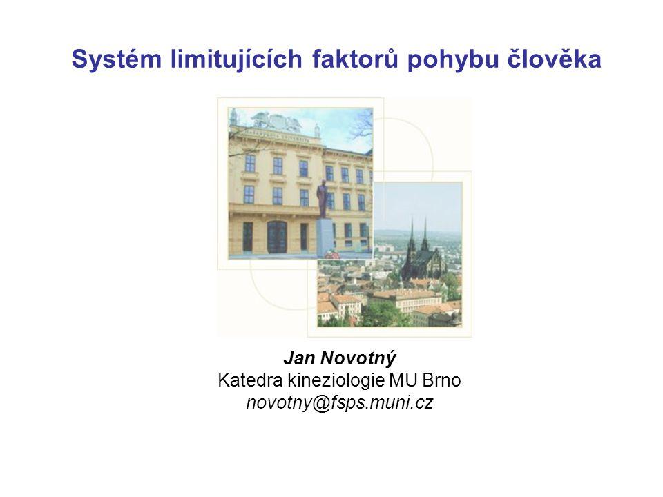 Systém limitujících faktorů pohybu člověka Jan Novotný Katedra kineziologie MU Brno novotny@fsps.muni.cz