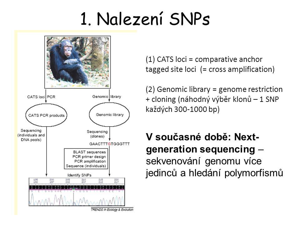 Analýza NGS dat: Identifikace různých genotypů u různých jedinců (= homologních chromozómů, tj.