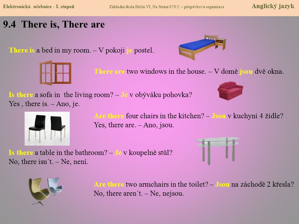 9.4 There is, There are Elektronická učebnice - I.