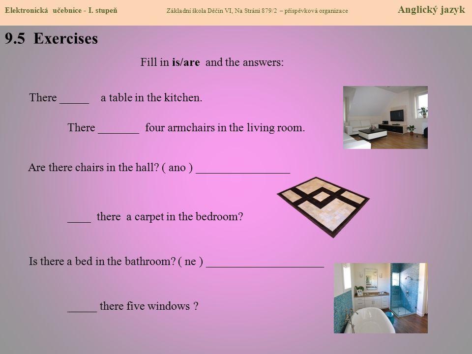 9.5 Exercises Elektronická učebnice - I.