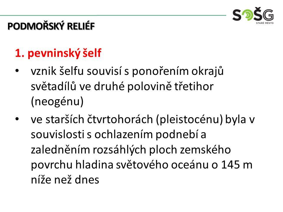 PODMOŘSKÝ RELIÉF 1.
