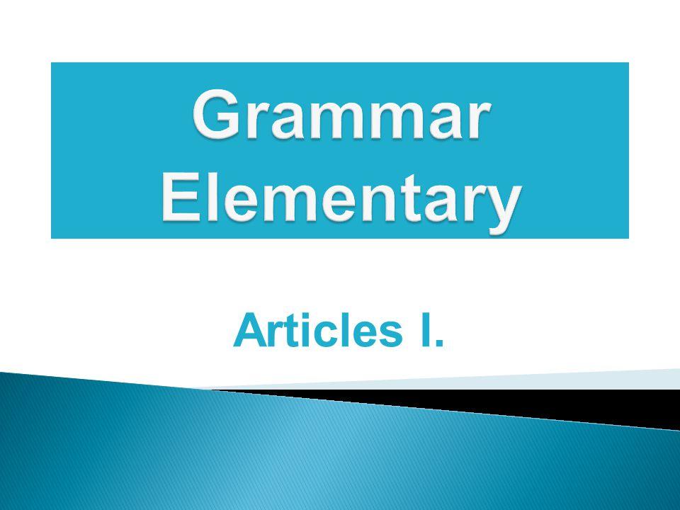 Articles I.