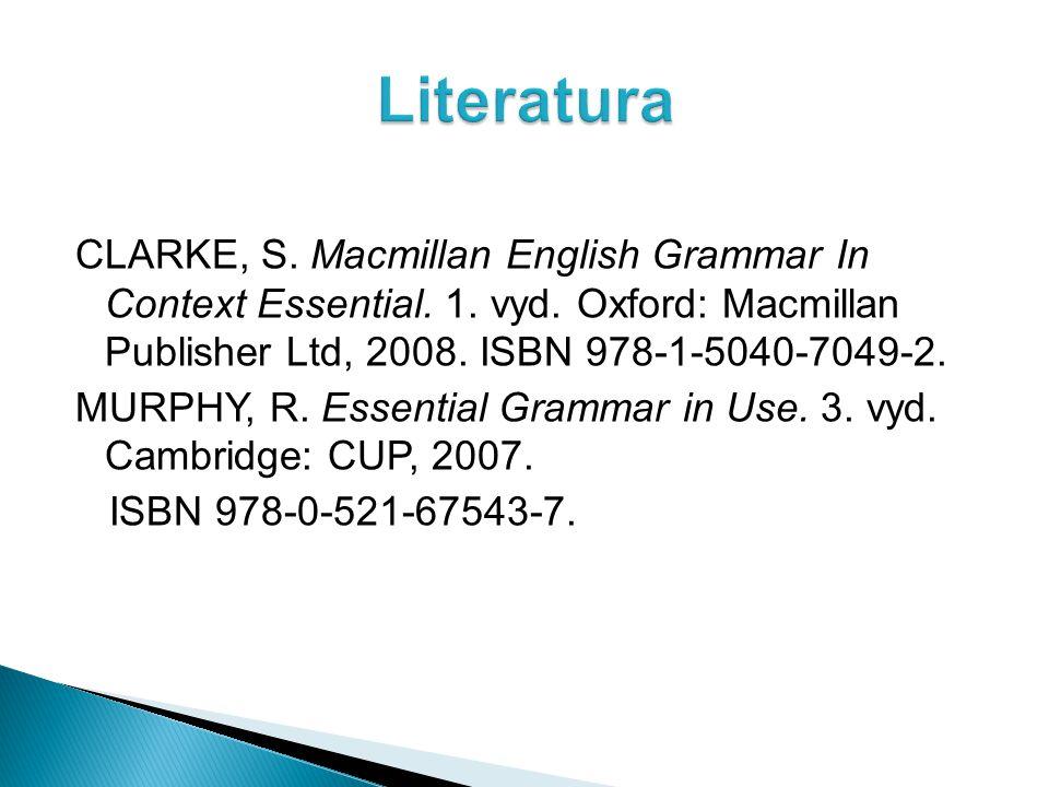 CLARKE, S. Macmillan English Grammar In Context Essential.