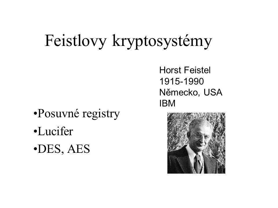 AES Počet klíčů 2 64 ~ 1.8*10 19 Za stejných podmínek je pro vyluštění třeba 1,8*10 11 s ~ 5707 let