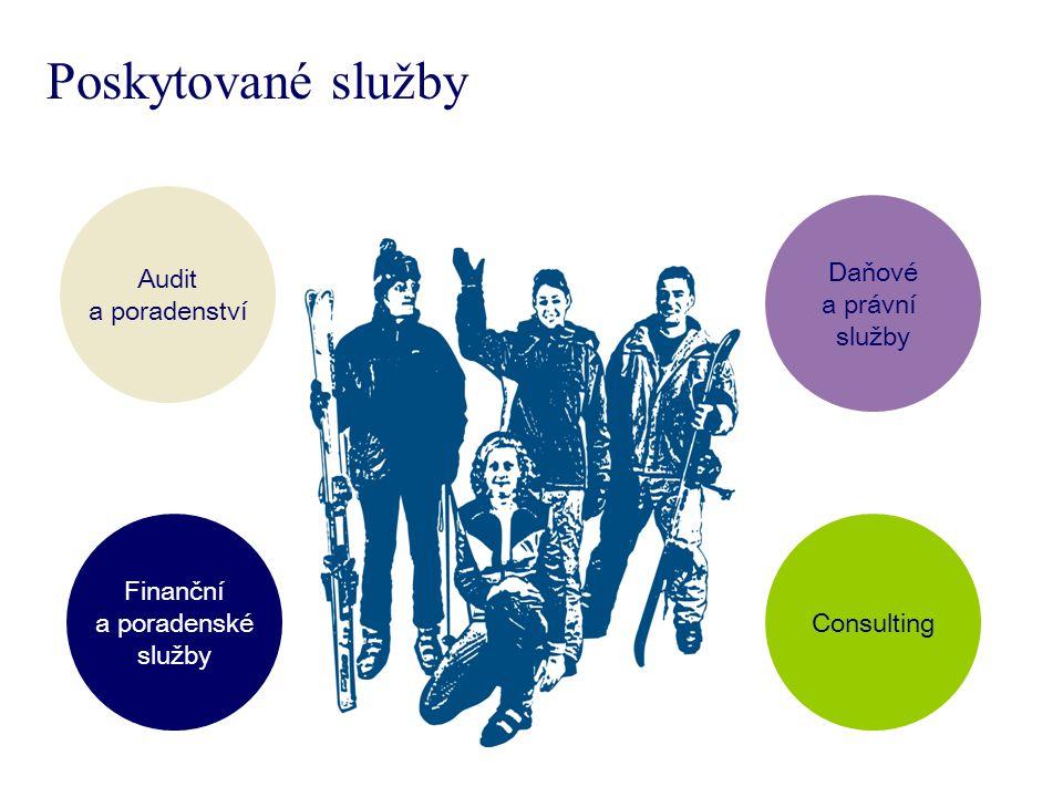 Audit a poradenství Daňové a právní služby Finanční a poradenské služby Consulting Poskytované služby