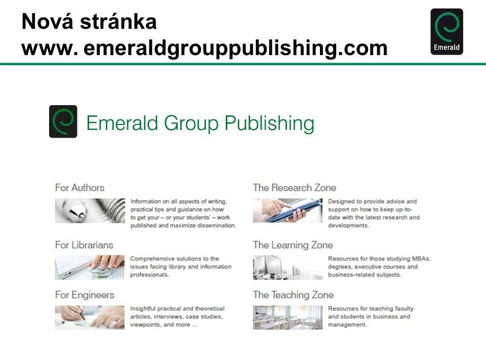 Nová stránka www. emeraldgrouppublishing.com