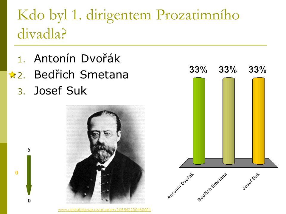 Kdo byl 1.dirigentem Prozatimního divadla. 0 0 5 1.