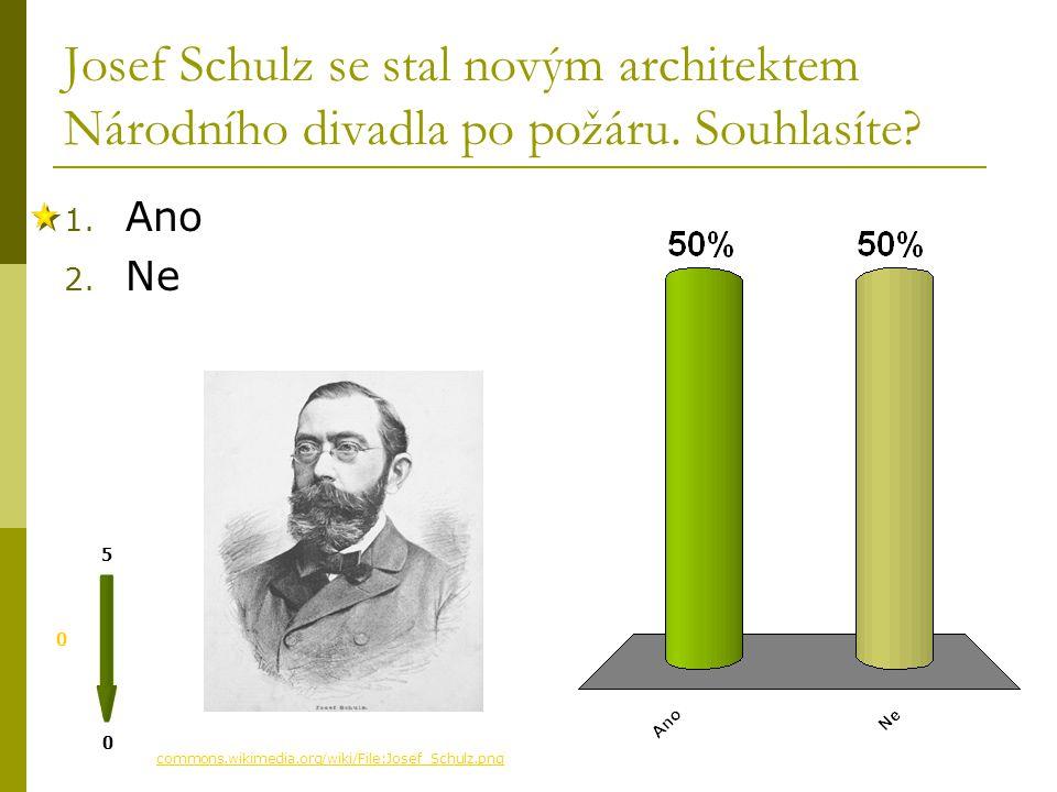Prvním architektem Národního divadla byl 0 0 5 magazin.ceskenoviny.cz/.../390676&id_seznam=348 1. Josef Zítek 2. Josef Schulz