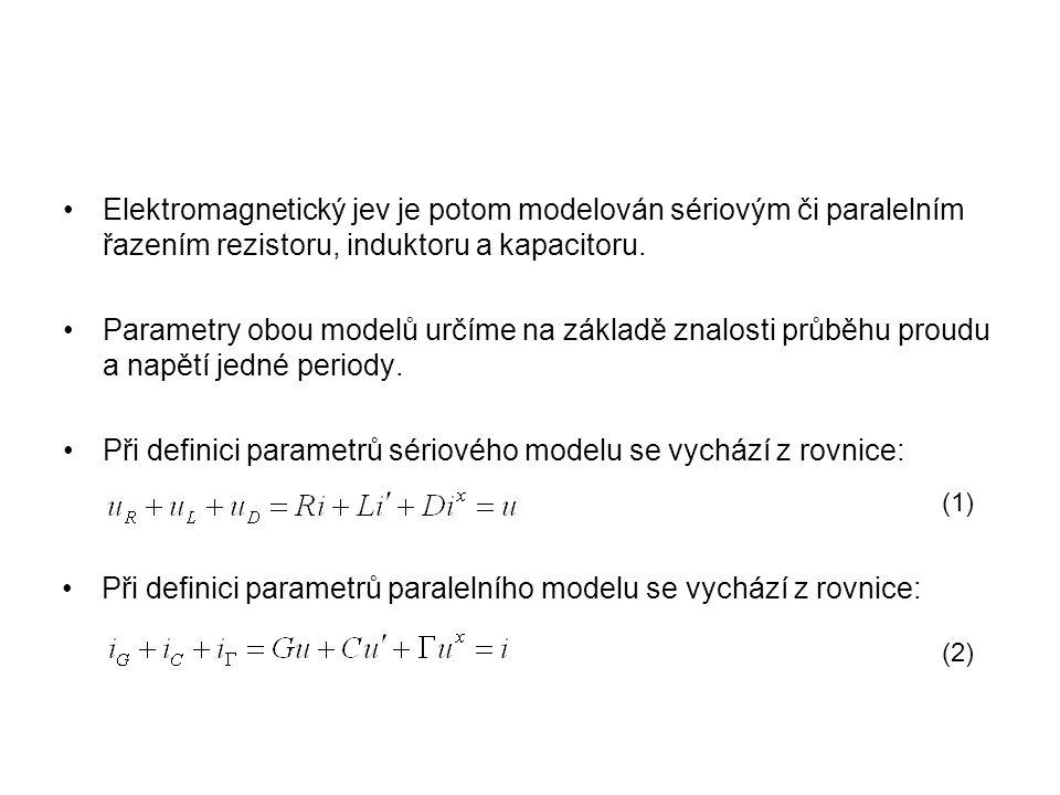 Elektromagnetický jev je potom modelován sériovým či paralelním řazením rezistoru, induktoru a kapacitoru. Parametry obou modelů určíme na základě zna
