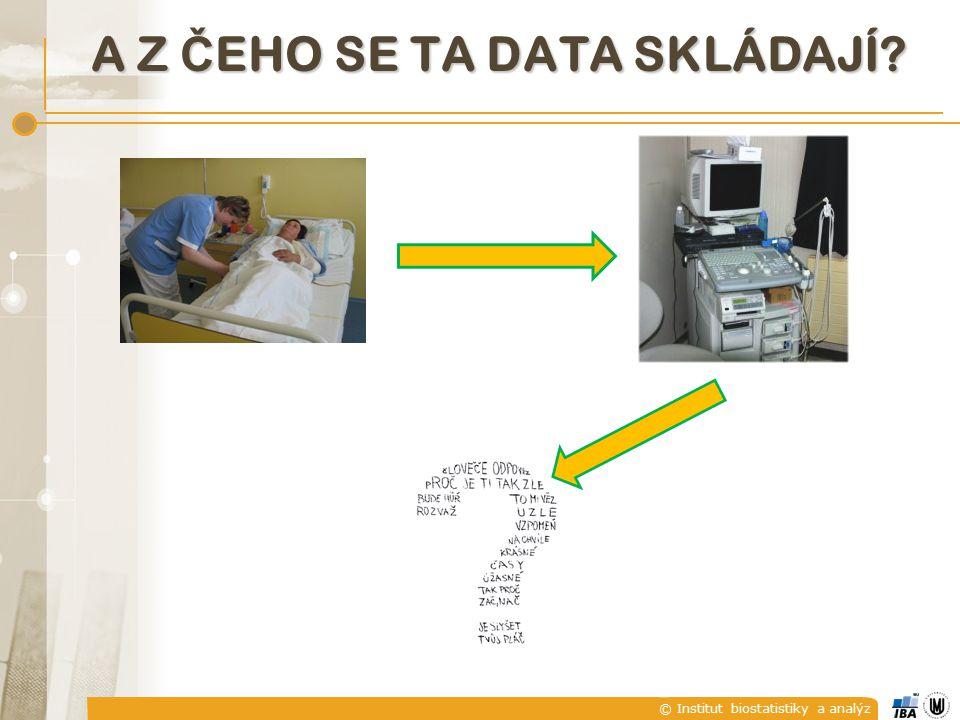 © Institut biostatistiky a analýz A Z Č EHO SE TA DATA SKLÁDAJÍ