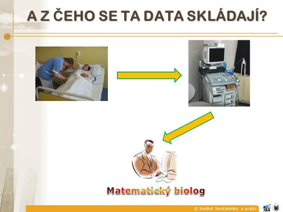 © Institut biostatistiky a analýz A Z Č EHO SE TA DATA SKLÁDAJÍ?