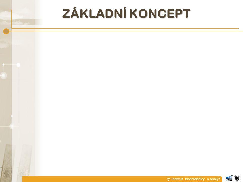 © Institut biostatistiky a analýz ZÁKLADNÍ KONCEPT