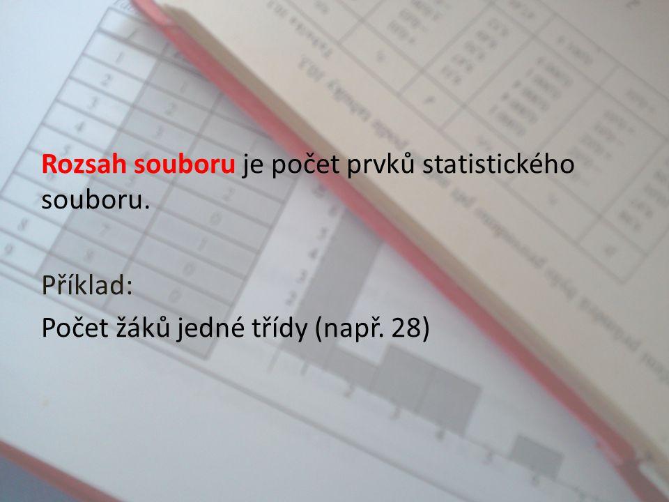 Statistické jednotky jsou jednotlivé prvky souboru. Příklad statistické jednotky: Jednotliví žáci třídy