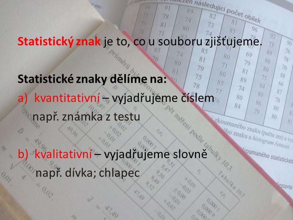 Rozsah souboru je počet prvků statistického souboru. Příklad: Počet žáků jedné třídy (např. 28)