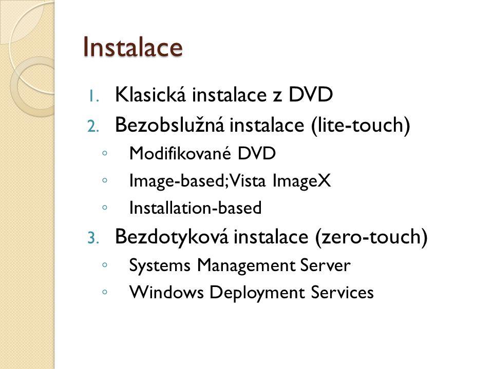 Instalace 1. Klasická instalace z DVD 2.