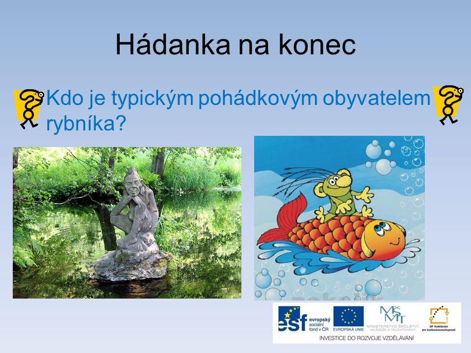 Hádanka na konec Kdo je typickým pohádkovým obyvatelem rybníka?