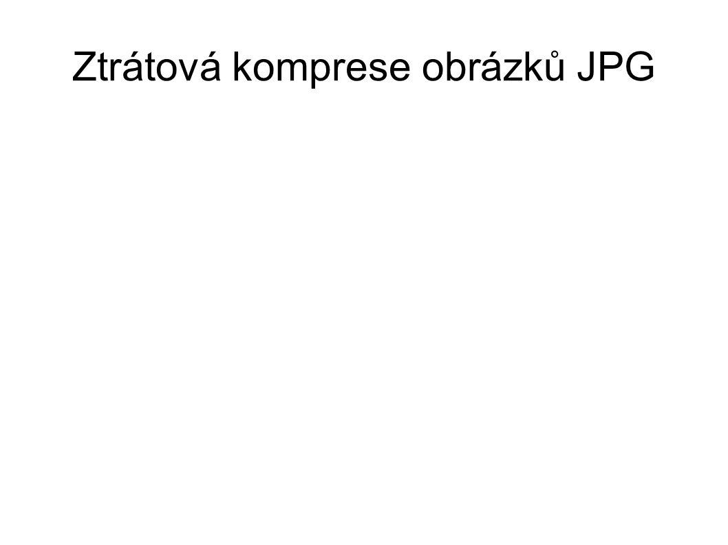 Ztrátová komprese obrázků JPG