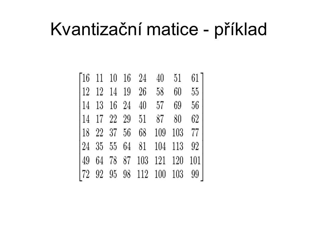 Kvantizační matice - příklad