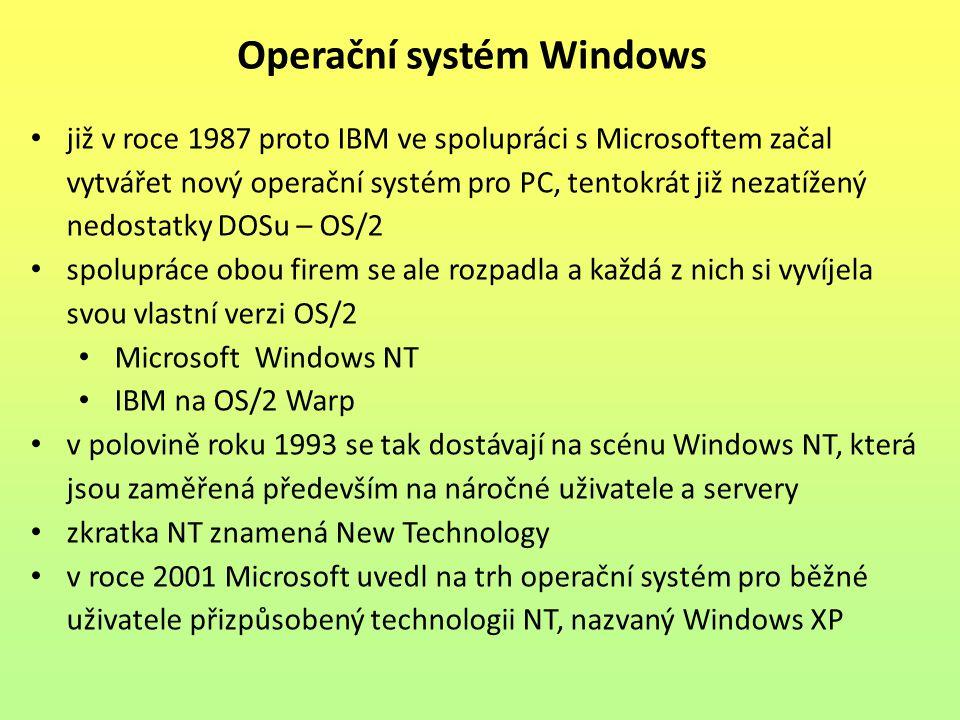 již v roce 1987 proto IBM ve spolupráci s Microsoftem začal vytvářet nový operační systém pro PC, tentokrát již nezatížený nedostatky DOSu – OS/2 spol