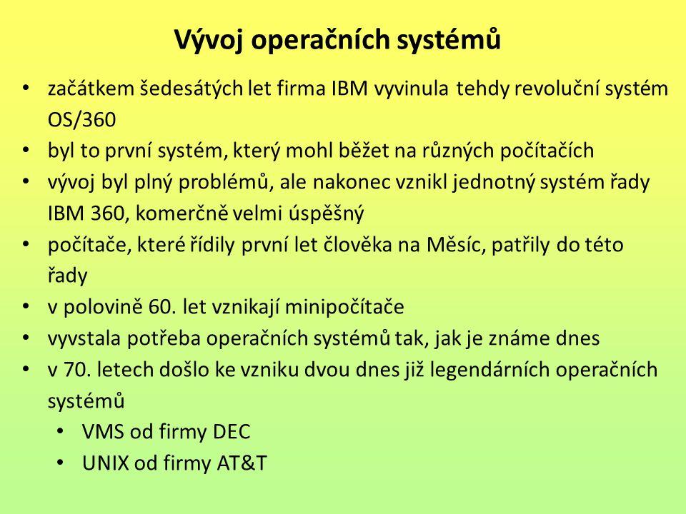 začátkem šedesátých let firma IBM vyvinula tehdy revoluční systém OS/360 byl to první systém, který mohl běžet na různých počítačích vývoj byl plný problémů, ale nakonec vznikl jednotný systém řady IBM 360, komerčně velmi úspěšný počítače, které řídily první let člověka na Měsíc, patřily do této řady v polovině 60.