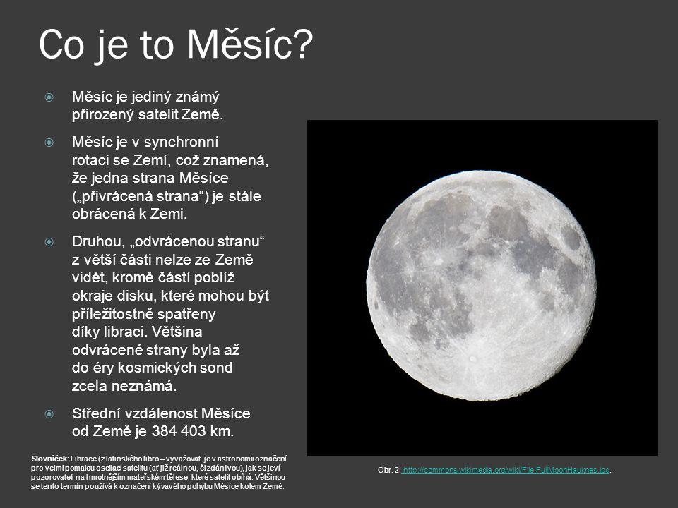 Co je to Měsíc.  Měsíc je jediný známý přirozený satelit Země.