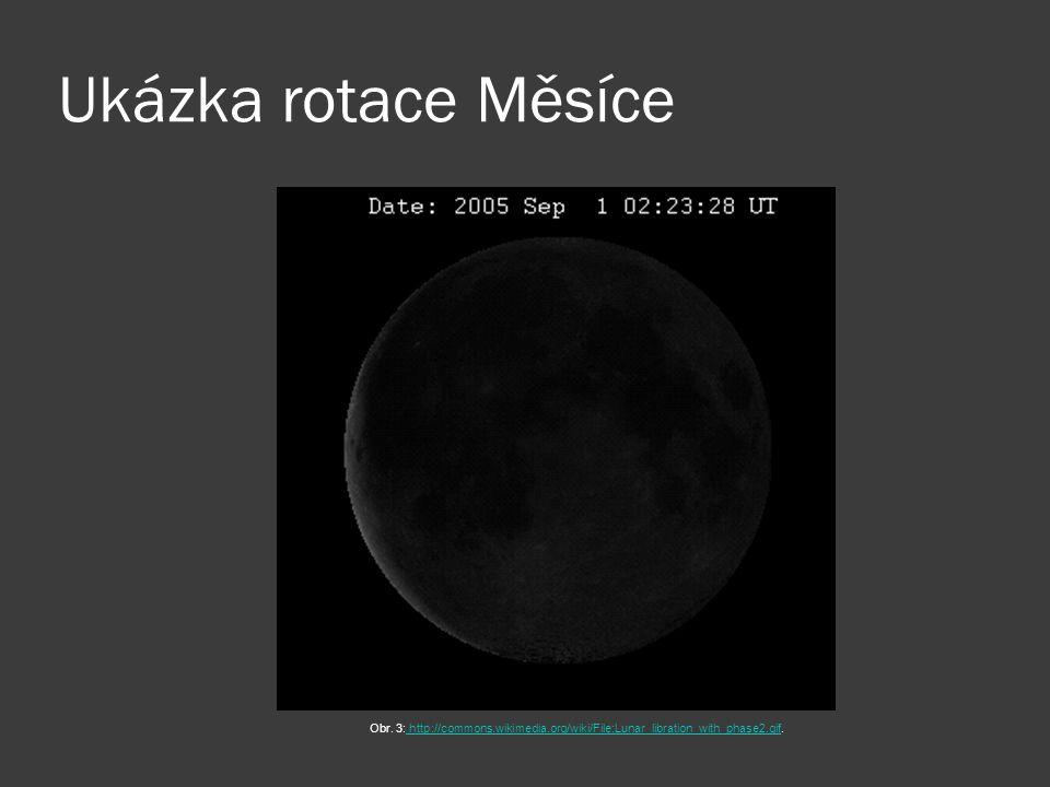 Ukázka rotace Měsíce Obr.