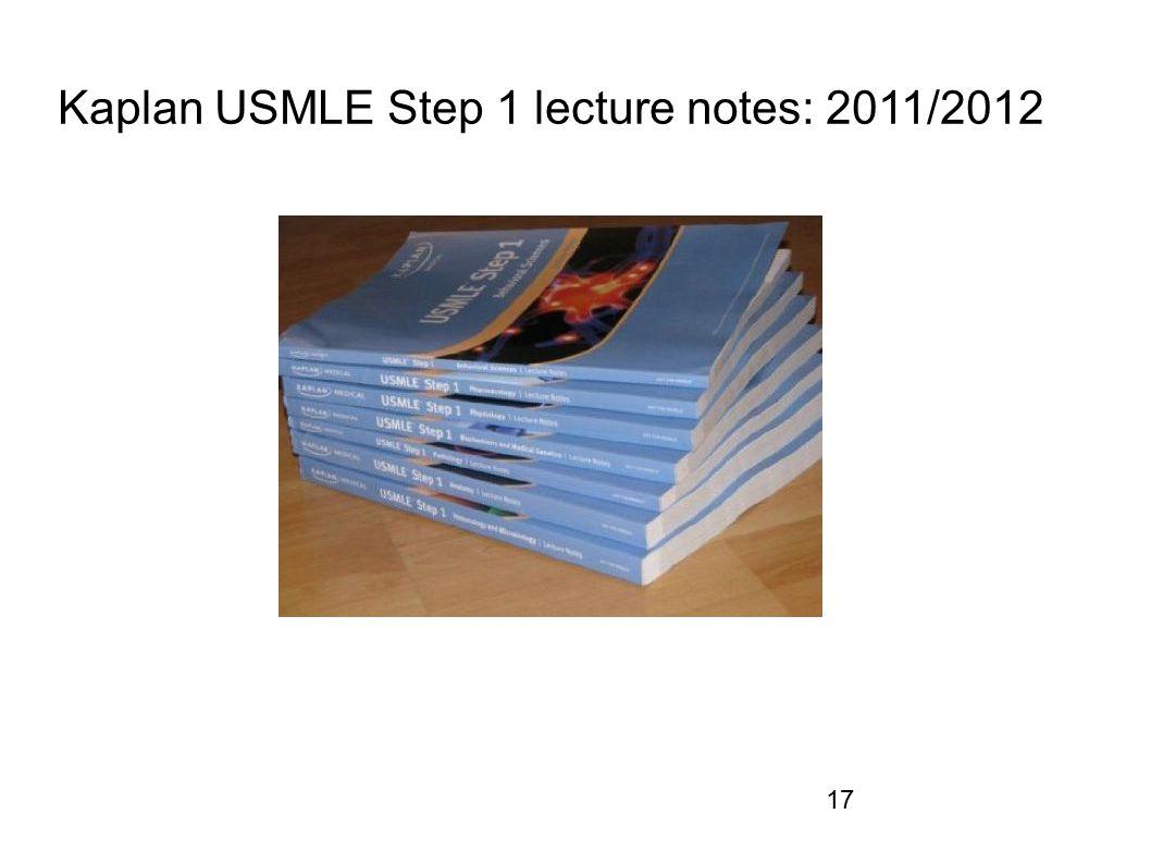 Kaplan USMLE Step 1 lecture notes: 2011/2012 17