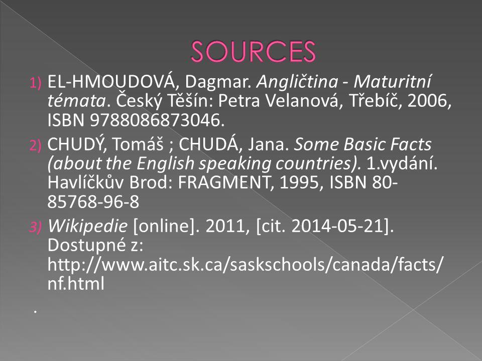 1) EL-HMOUDOVÁ, Dagmar. Angličtina - Maturitní témata.
